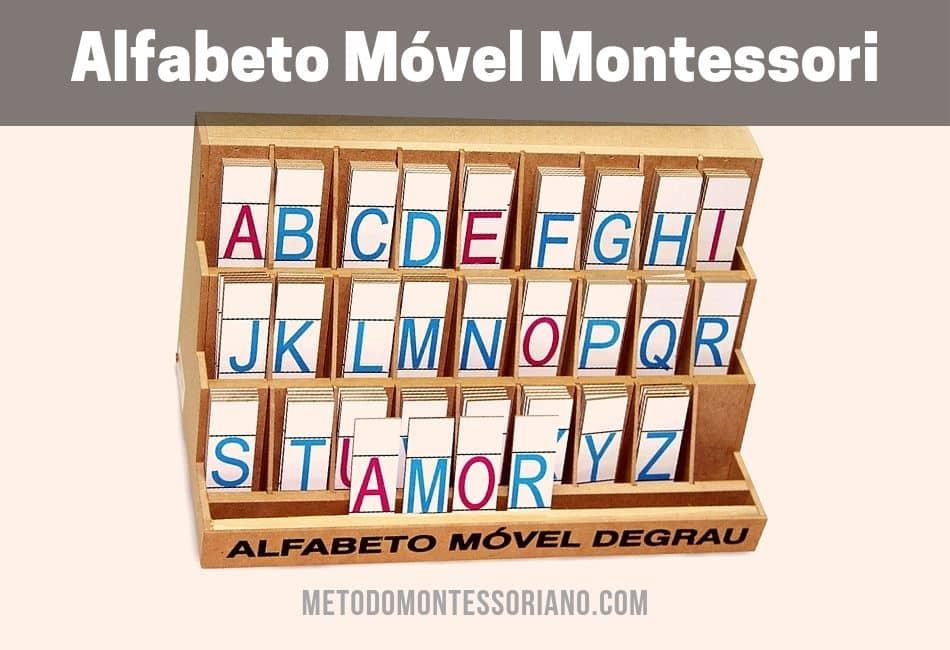 Alfabeto Móvel Montessori Degrau