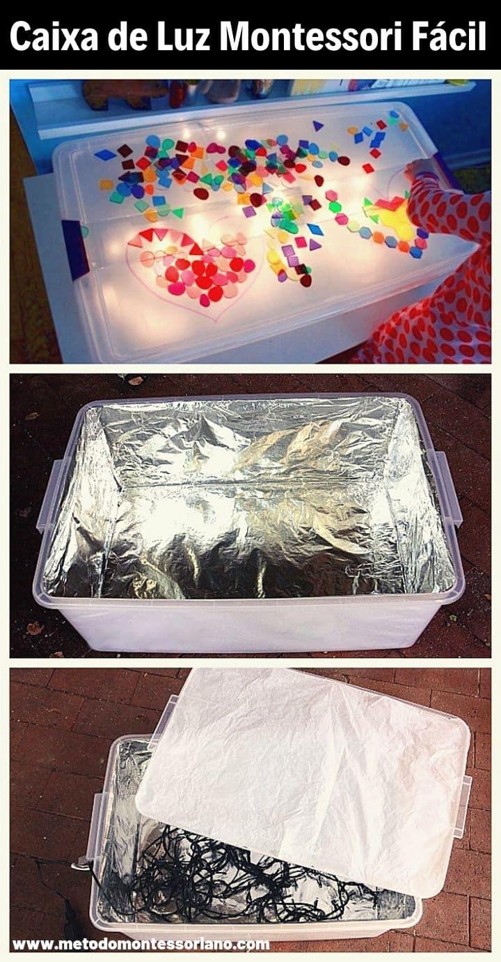 Como fazer caixa de luz montessori diy