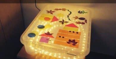 caixa de luz montessori
