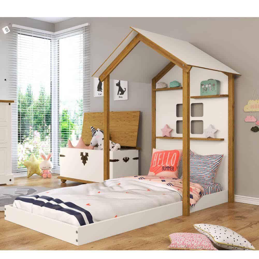 cama infantil montessoriana casinha prateleiras casinha