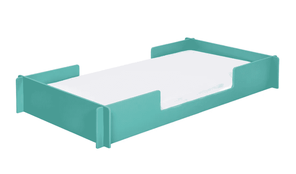 cama montessori infantil verde