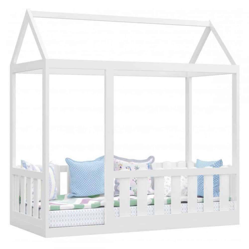 cama montessoriana com grade protetora