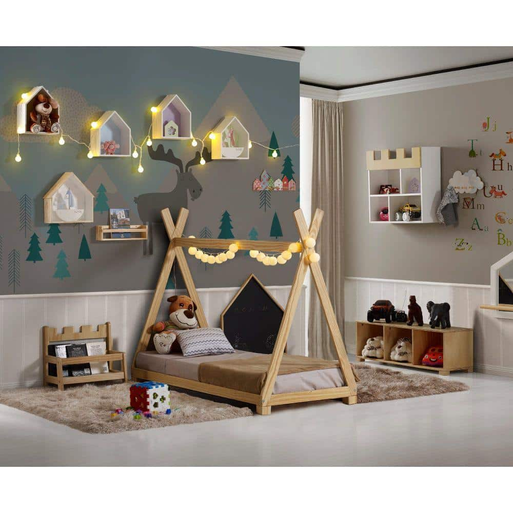 mini cama montessoriano tenda de indio